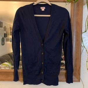 Dark Blue Botton Up Cardigan Mossimo